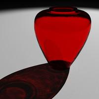 red vase 3d model