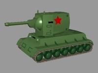 kv-2 russian tank 3ds free