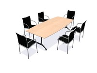 3ds wilkhahn meeting table chairs