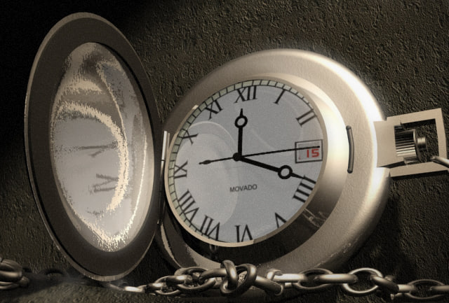 3d pocketwatch watch