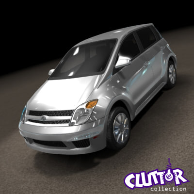 3ds max 2007 scion xa car