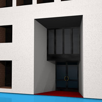 3d model of art gallery building office
