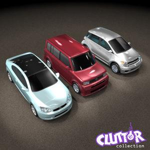 scion 2007 car 3d model