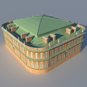 3d model bread house