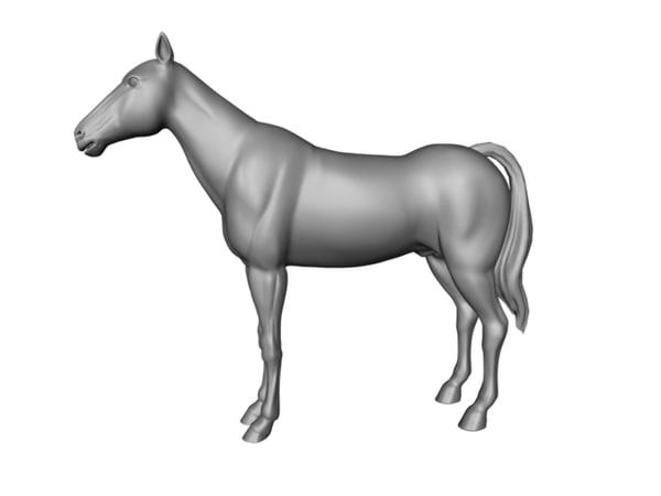 3d model of horse animate