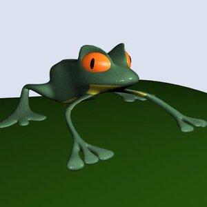 3d frog amphibian