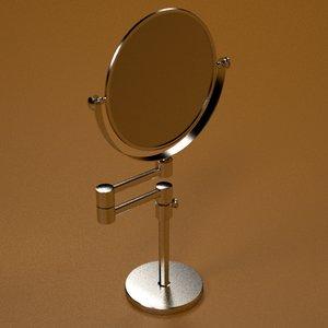 3d bathroom foot mirror model