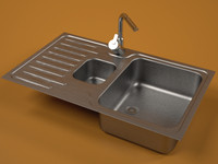 steel sink faucet 3d model