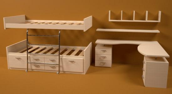 montseny juvenile bedroom 3d max