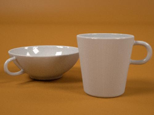 3ds max coffe cups