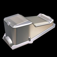 3d chromed small block chevy model