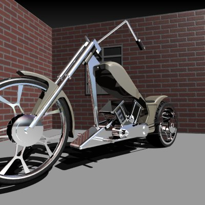 3d custom chopper model
