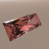 bagette princess cut gem 3d model