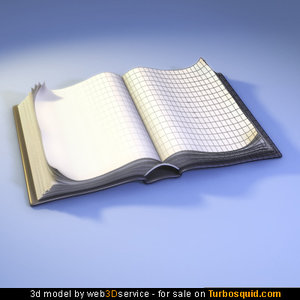 3d model open book modeled