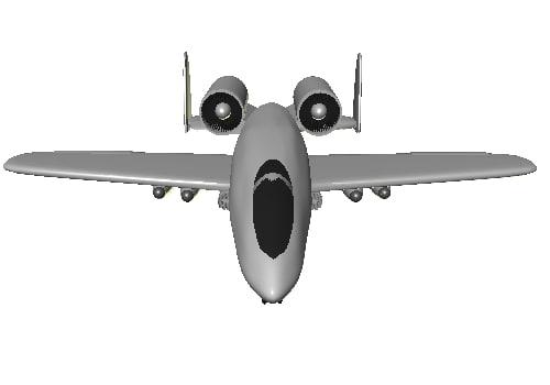 free a-10 warthog 3d model