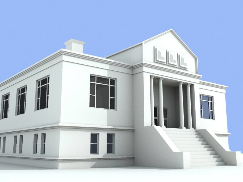 old library 3d model