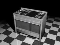 smeg oven stove 3d model