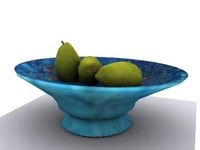 pear fruit plate 3d max