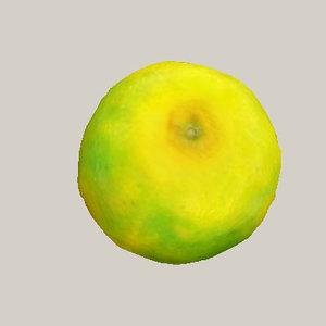 orange mandarin unit 3d obj