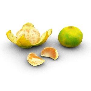orange mandarin c4d