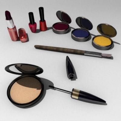 3d cosmetics lipstick mascara