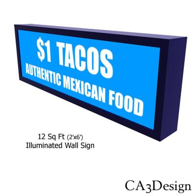 maya illuminated wall sign