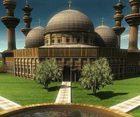 Realistic Mosque ( Historical ) and Garden