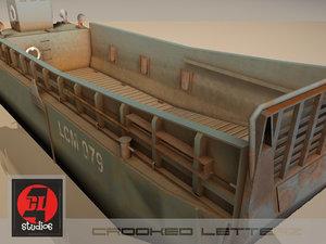 lcm landing craft mechanized 3d model