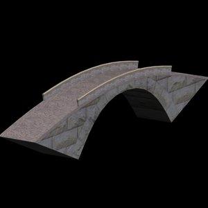 stone arch bridge 3d max