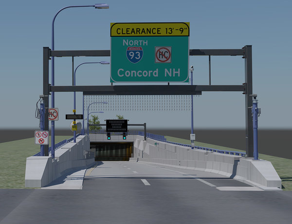 3d portal tunneled highway model