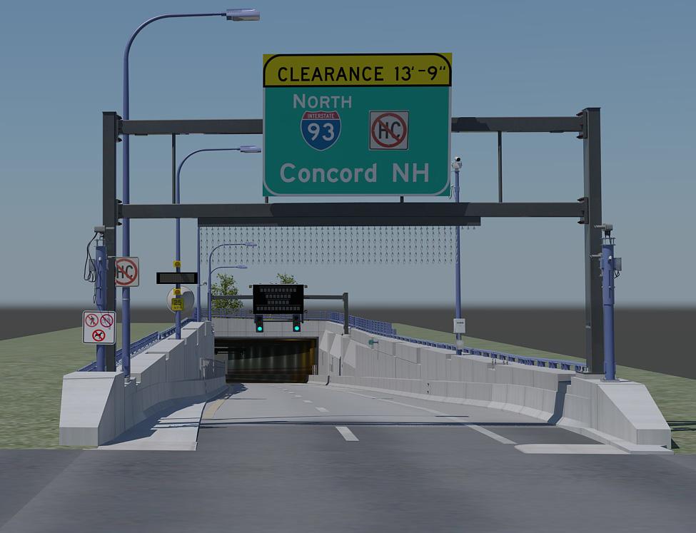 3d portal tunneled highway model