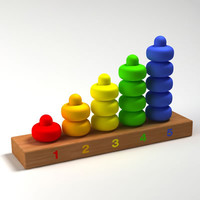 colorful toys 3d model