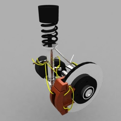 3d car suspension model