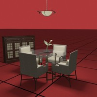 3d dwg dining table