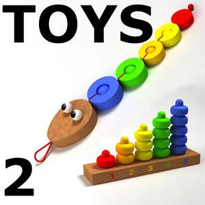 3d colorful toys 2