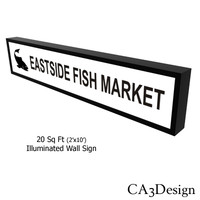 2ftx10ft Illum Wall Sign