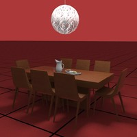 dining table 3d dwg