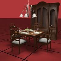 dining set 3d max