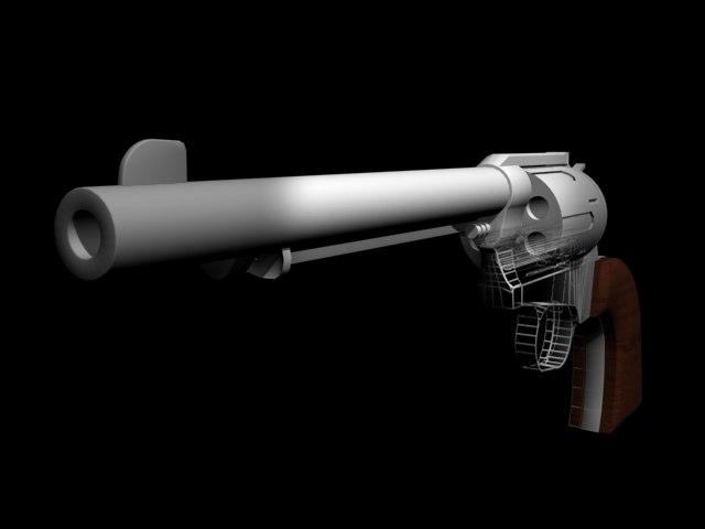 photorealistic revolver gun ma