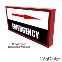 illuminated wall sign 3ds