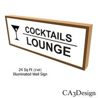 3dsmax illuminated wall sign