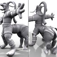 3d model fantasy character beast