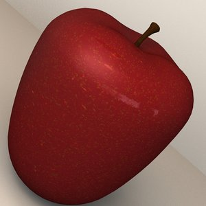 3d 3ds apple fruit