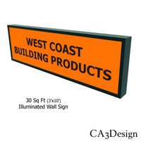 illuminated wall sign 3d model