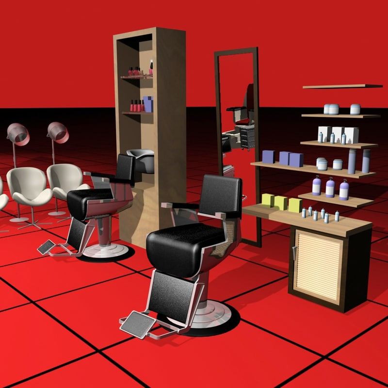 3d max barber collection01