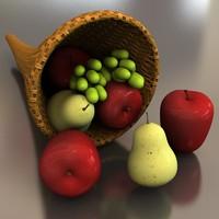 cornucopia fruit 3d model
