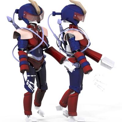 armor shield robot 3d model