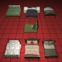 3d beds collection01 model