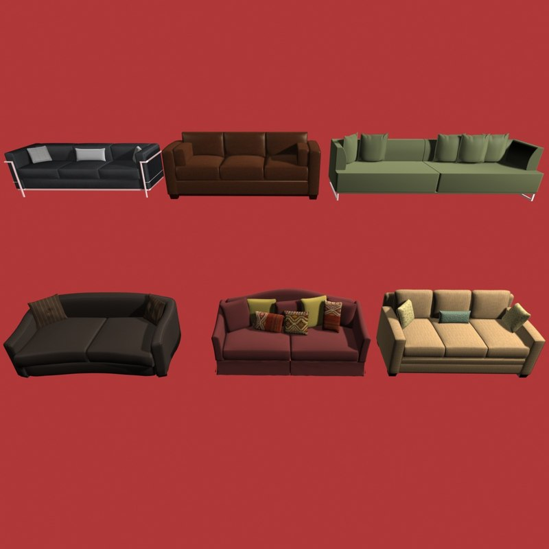3ds max sofas collection01