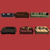 3d model sofas collection01